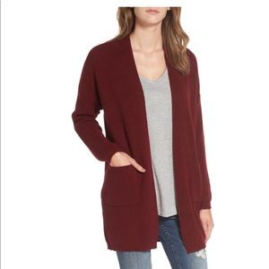 Dreamers burgundy red cardigan